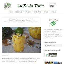 Salade d'ananas aux épices et citron vert