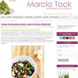 Salade d'aubergines tièdes, chèvre miel- Recette