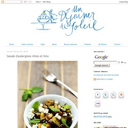 Salade d'aubergines rôties et feta