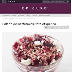 Salade de betteraves, feta et quinoa