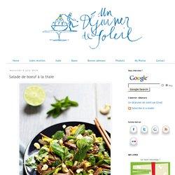 Salade de boeuf à la thaïe