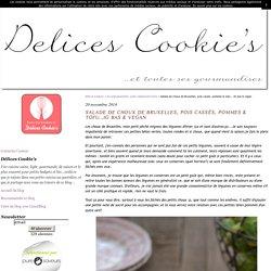 Choux de Bruxelles, pois cassés, pommes & tofu...IG bas & vegan - Délices Cookie's