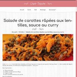 Salade de carottes râpées aux lentilles, sauce au curry