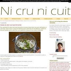 Salade de céleri rave lacto-fermentée