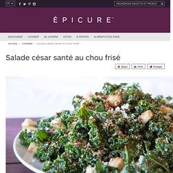 Salade césar santé au chou frisé