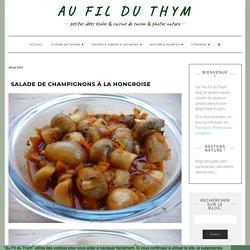 Salade de champignons à la hongroise