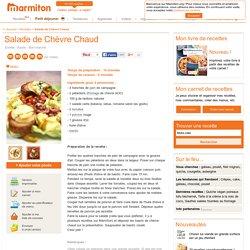 Salade de Chèvre Chaud : Recette de Salade de Chèvre Chaud