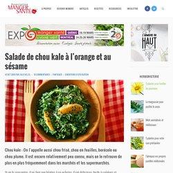 Salade de chou kale à l'orange et au sésame