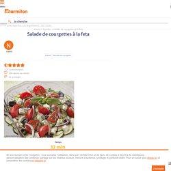 Salade de courgettes à la feta : Recette de Salade de courgettes à la feta