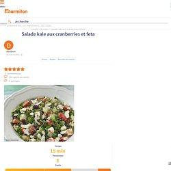 Salade kale aux cranberries et feta : Recette de Salade kale aux cranberries et feta