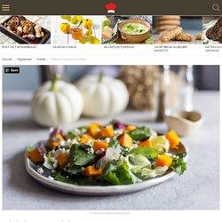 Salade d'automne au kaki