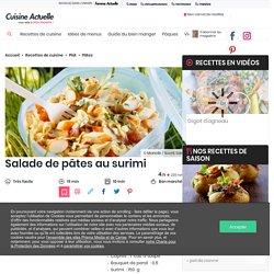 Salade de pâtes au surimi facile