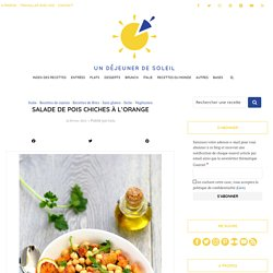 Salade de pois chiches à l'orange sanguine