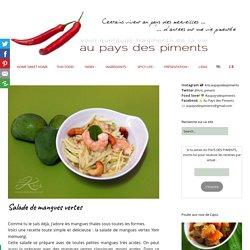 Tartine de salade thaïe de mangues vertes