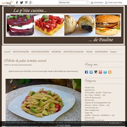 Salade de pâtes tomates avocat