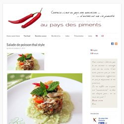 Salade de poisson thaï style