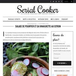 Salade de pourpier et sa vinaigrette au citron