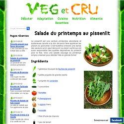 Salade du printemps au pissenlit