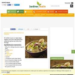 Salade de quinoa aux fruits et au fromage
