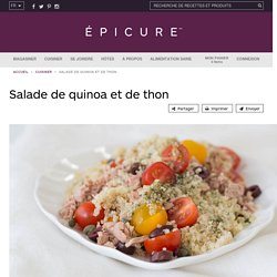 Salade de quinoa et de thon