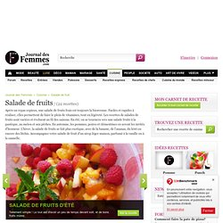 salade de fruit : Meilleures recettes