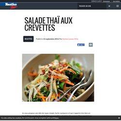 Salade thaï aux crevettes - Nautilus Plus