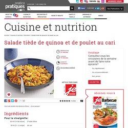 Salade tiède de quinoa et de poulet au cari