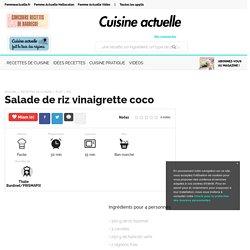 Salade de riz vinaigrette coco, facile et pas cher