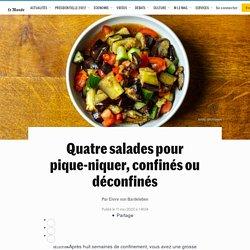 Quatre salades pour pique-niquer, confinés ou déconfinés