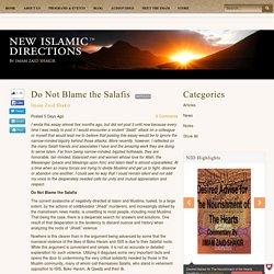 New Islamic Directions - Imam Zaid Shakir