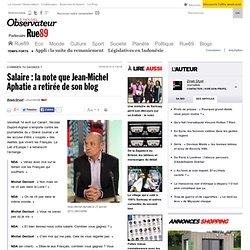 Salaire: la note que Jean-Michel Aphatie a retirée de son blog