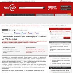 Le salaire des apprentis pris en charge par l'Etat dans les TPE dès juillet NetPME :