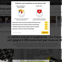 Le salaire moyen a augmenté: les Français ont gagné 2250 euros net par mois en 2014