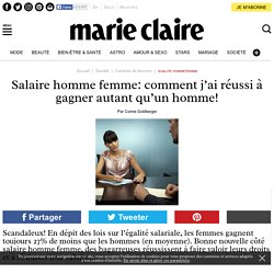 Salaire homme femme