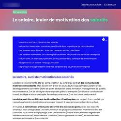 Le salaire, levier de motivation des salariés
