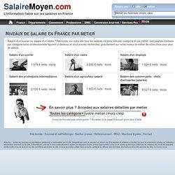 Salaire moyen cadre ou ouvrier