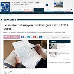 Le salaire net moyen des Français est de 2.157 euros