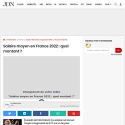 Salaire moyen en France en 2018: net, brut, par sexe, par CSP