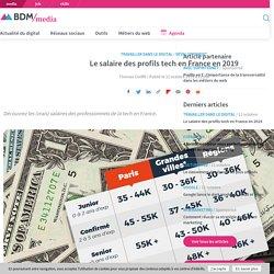 Le salaire des profils tech en France en 2019