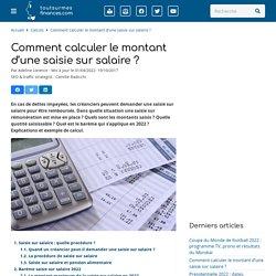 Saisie sur salaire : barème 2020, calcul, simulateur et procédure