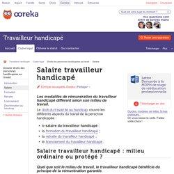 Salaire travailleur handicapé : le salaire du travailleur handicapé