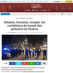 Salaires, horaires, congés: les conditions de travail des policiers en France
