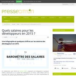 Quels salaires pour les développeurs en 2015 ?