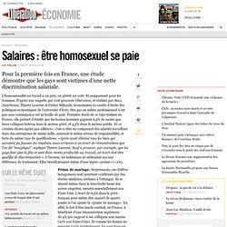 Salaires : être homosexuel sepaie