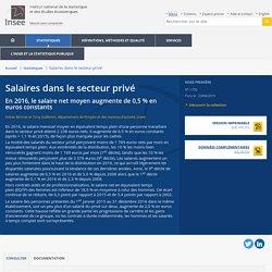 Salaires dans le secteur privé - Insee Première - 1750