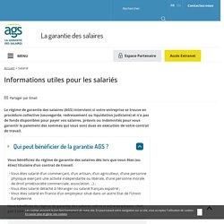 Salarié - AGS - Le Régime de Garantie des Salaires