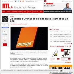 Un salarié d'Orange se suicide en se jetant sous un RER