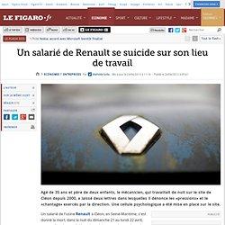 Un salarié de Renault se suicide sur son lieu de travail