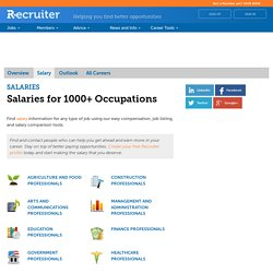 Salaries for over 1000+ Occupations
