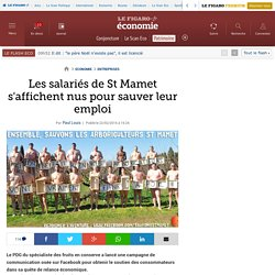 Les salariés de St Mamet s'affichent nus pour sauver leur emploi